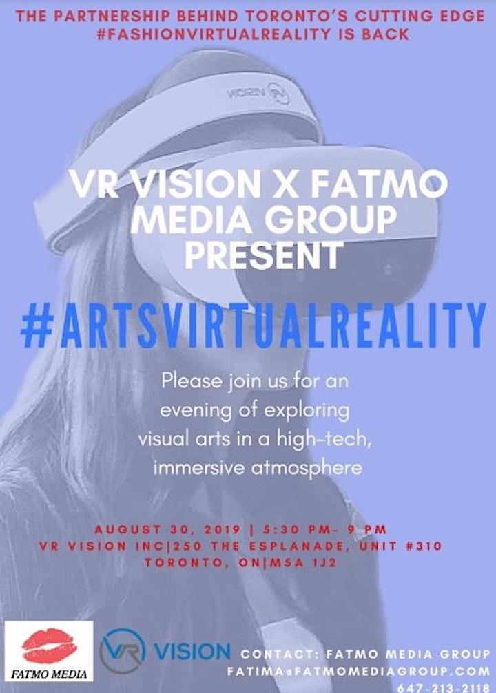#ARTSVIRTUALREALITY- By VR Vision Inc. and FATMO Media Group image