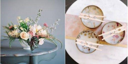 DIY Candle Pouring + Floral Arrangement Workshop