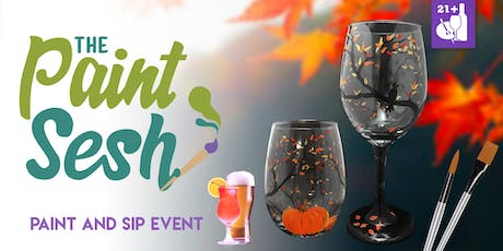 "Paint Night in Riverside, CA - ""Autumn"" Wine Glass Set tickets"