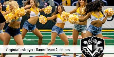 Virginia Destroyers Dance Team Audition