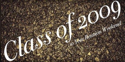GCHS Class of 2009: 10 Year Reunion Weekend