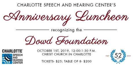 Annual Anniversary Luncheon tickets