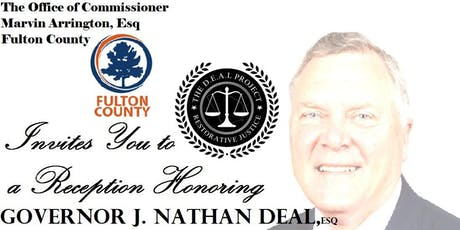 PRIVATE RECEPTION HONORING GOVERNOR NATHAN DEAL, Esq tickets