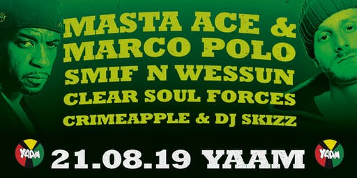 Monsters of Rap w. Masta Ace & Marco Polo, Smif N Wessun, Clear Soul Forces u.a.