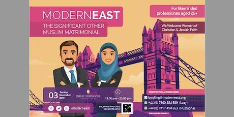 Modern East Presents Muslim Matrimonial tickets