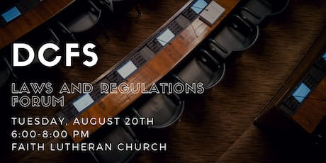 DCFS Updated Laws and Regulations Forum tickets