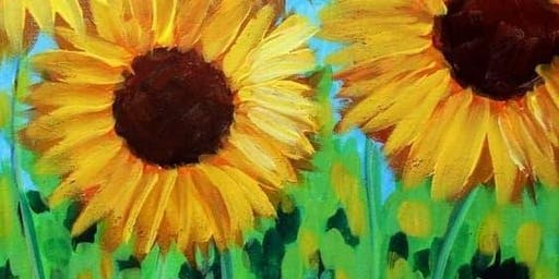 SUNFLOWER PAINTING WITH ARTIST OBRIANNA