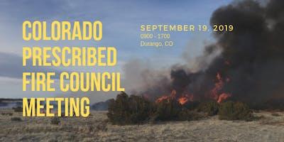 Colorado Prescribed Fire Council Meeting