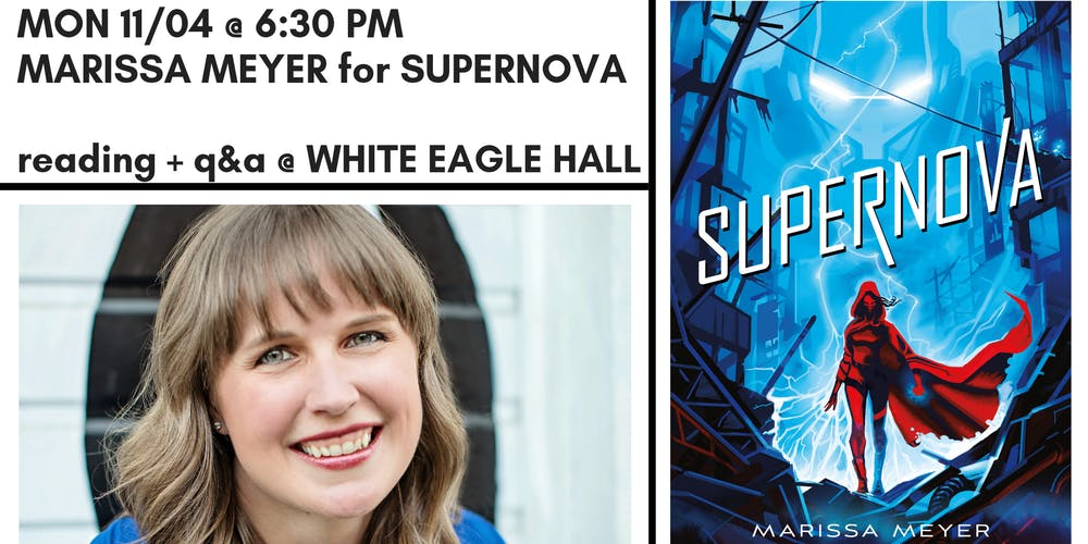 Image result for WORD + WHITE EAGLE HALL PRESENT MARISSA MEYER