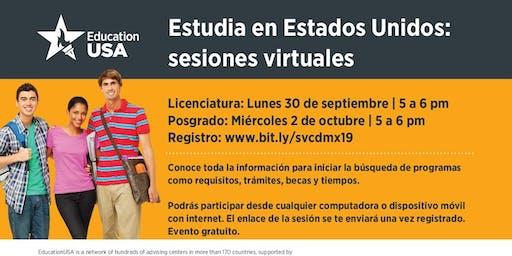 Estudia en EEUU: Sesiones virtuales