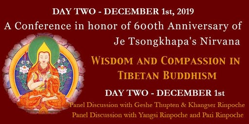12/01/2019 - Wisdom and Compassion Conference