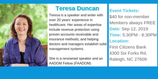 Join us Sep. 12th for a great even with Teresa Duncan.