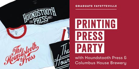 Printing Press Party with Houndstooth Press tickets