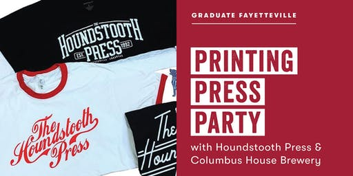 Printing Press Party with Houndstooth Press