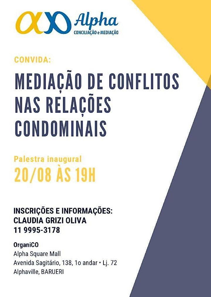 Imagem do evento MEDIAÇAO DE CONFLITOS NAS RELAÇÕES CONDOMINIAIS