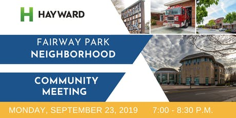 Fairway Park Neighborhood Community Meeting tickets