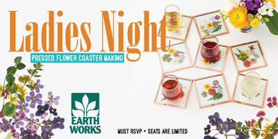 LADIES NIGHT: Pressed Flower Coaster Making workshop