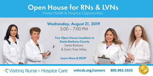 Nursing Open House for RNs and LVNs - Santa Ynez Valley