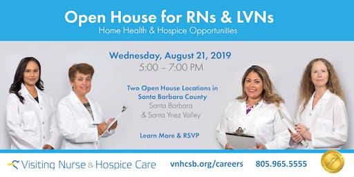 Nursing Open House for RNs and LVNs - South Santa Barbara County