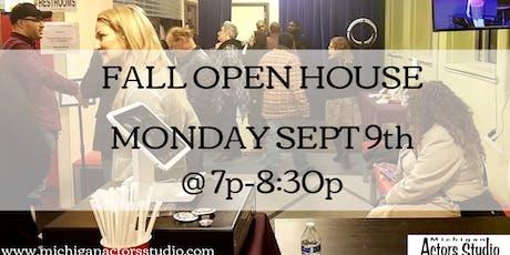 Free Fall Open House at Michigan Actors Studio tickets