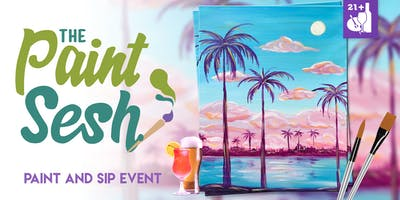 "Paint Night in Downtown Riverside, CA - ""Cotton Candy Skies"""