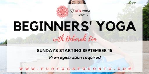 Beginners' Yoga Six Week Series