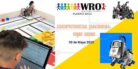 Competencia Nacional WRO 2020 tickets
