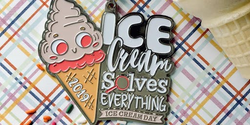 Only $15! Ice Cream Day 1 Mile, 5K, 10K, 13.1, 26.2 -Des Moines