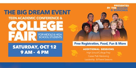 "KCC CDC & Koinonia Christian Center  Presents ""The Big Dream Event"" tickets"