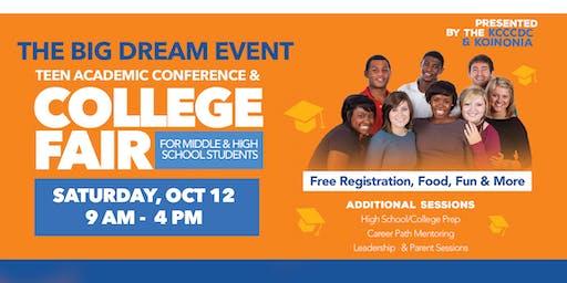 "KCC CDC & Koinonia Christian Center  Presents ""The Big Dream Event"""