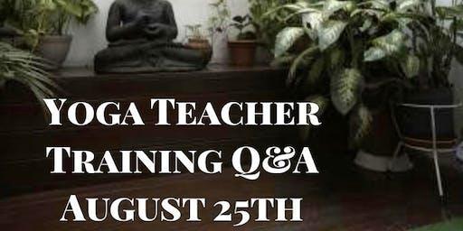 Yoga Teacher Training Q & A