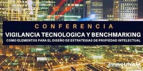 """Conferencia """"Vigilancia Tecnológica y Benchmarking boletos"""