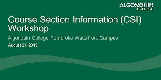 Course Section Information (CSI) Workshop