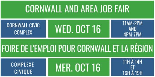 Cornwall and Area Job Fair Booth Registration