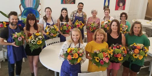 DIY Flower Design Workshop- Bright and Cheery Bouquets