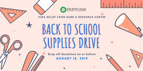 Back To School: Supplies Drive tickets