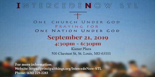 IntercedeNow STL Prayer Rally