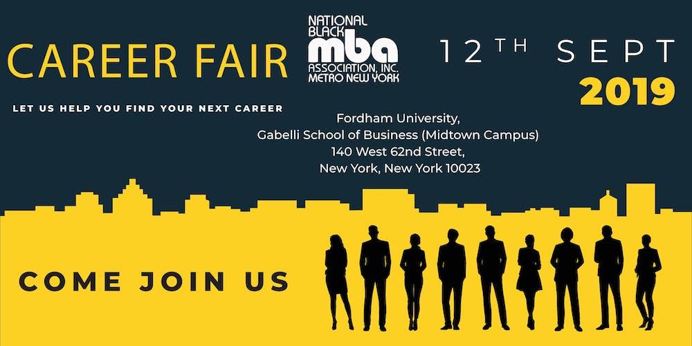 National NY Black MBA Job Fair Fall 2019 Tickets, Thu, Sep 12, 2019