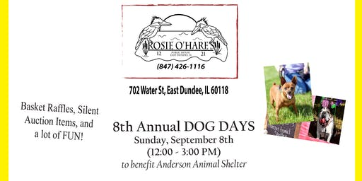 Rosie O'Hare's 8th Annual Dog Days to benefit Anderson Animal Shelter