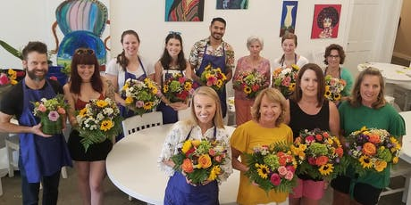 DIY Flower Design Workshop- Bright and Cheery Bouquets tickets