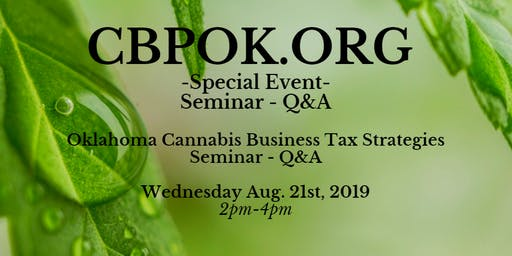 Oklahoma Cannabis Business Tax Strategy