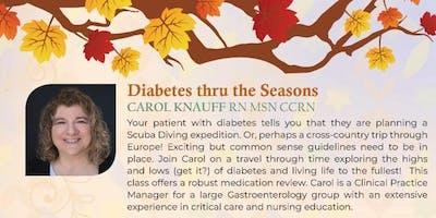 1. Diabetes thru the Seasons with Carol Knauff RN MSN CCRN