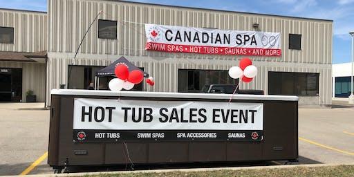 Canadian Spa Company's Backyard Bash Hot Tub Event