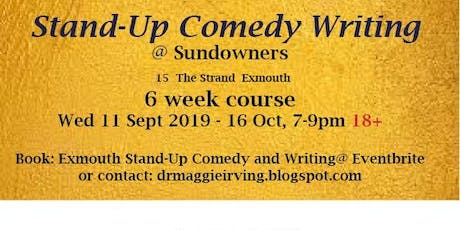 Exmouth: Stand-Up Comedy Writing tickets