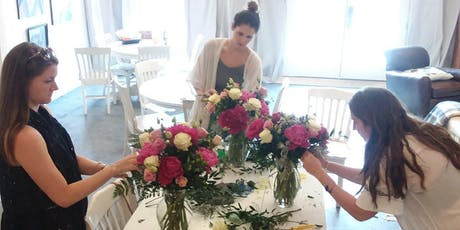 DIY Flower Design Workshop- Pretty Pinks & Green Bouquets tickets