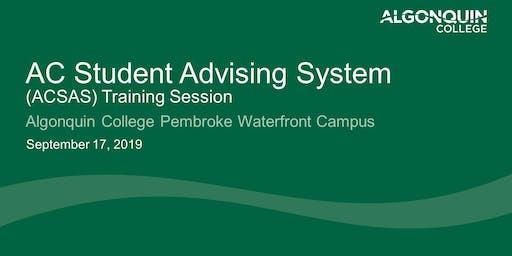 Algonquin College Student Advising System (ACSAS)