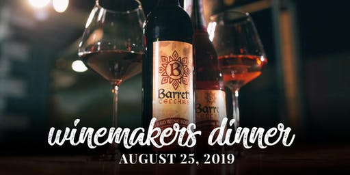 Barrett Cellars Winemakers Dinner