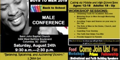 Boys to Men 2019 Male Conference