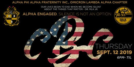 Alpha Engaged, Omicron Lambda Alpha Chapter CBC Reception tickets