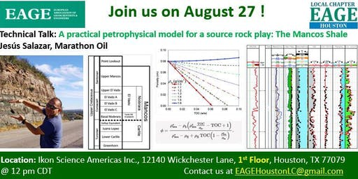 A practical petrophysical model for a source rock play: The Mancos Shale